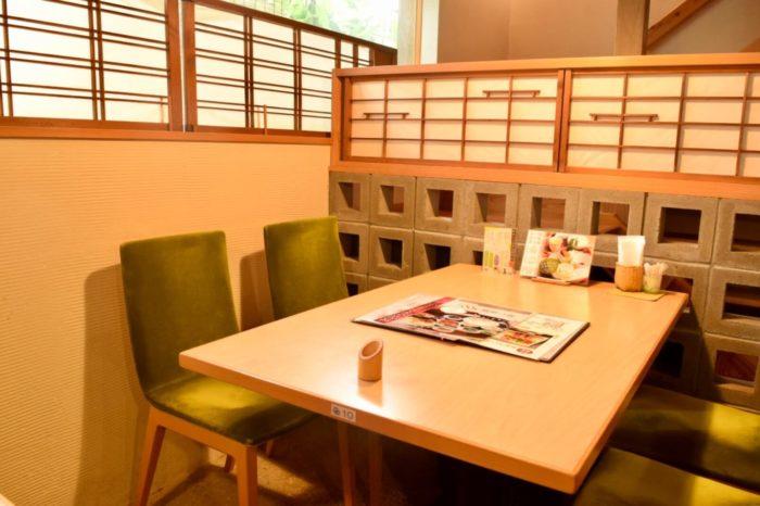 土佐茶カフェの店内の様子