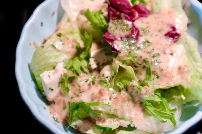 メフィストフェレスのチキン弁当 サラダ