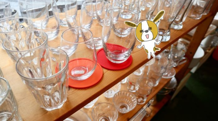 高知の雑貨店uf(ウフ)のグラス