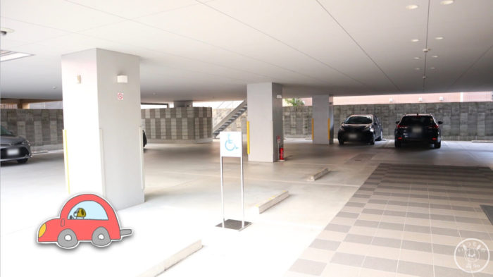 モデルショップヨシオカの駐車場