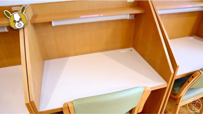 塩見プラザの学習室(座席)