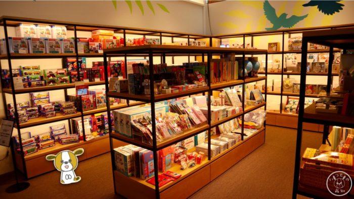高知蔦屋書店3Fのおもちゃ・雑貨コーナー
