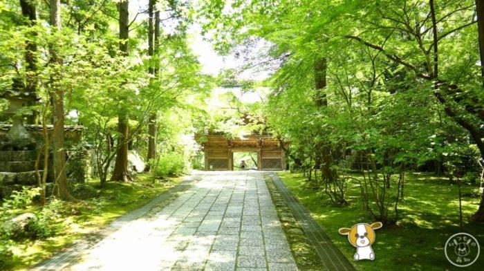 五台山竹林寺の仁王門とお遍路さん