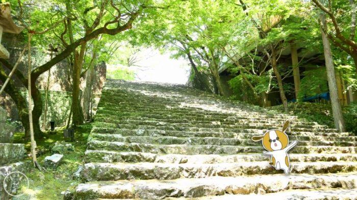 五台山竹林寺の石の階段