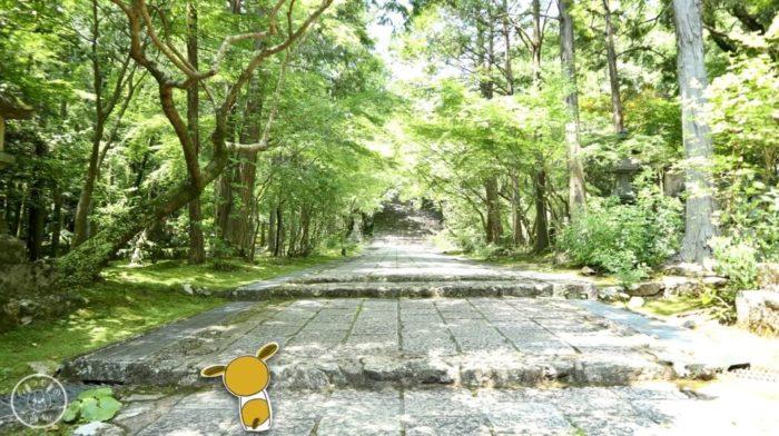五台山竹林寺の石の道
