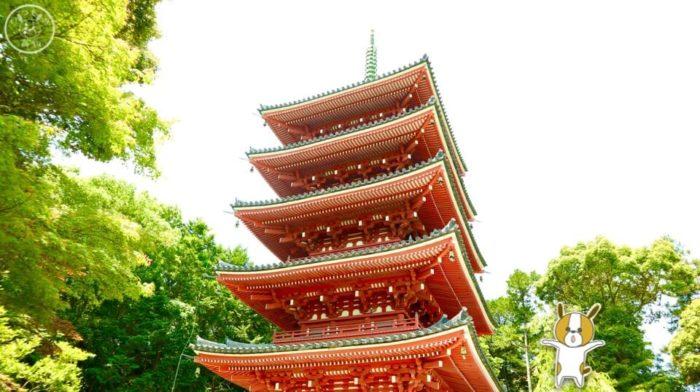 五台山竹林寺の五重塔どーん!