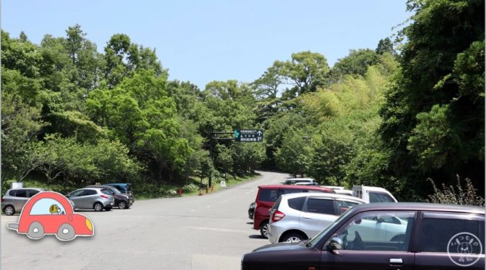 五台山竹林寺周辺の駐車場