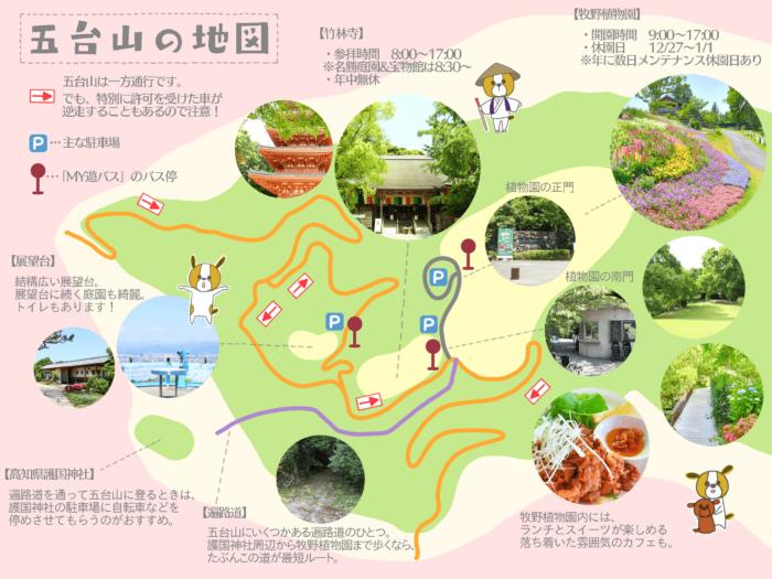 五台山の地図