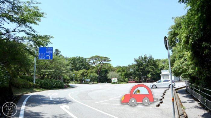 五台山展望台の駐車場