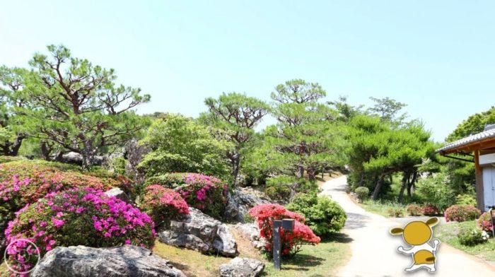 五台山展望台につづく庭園