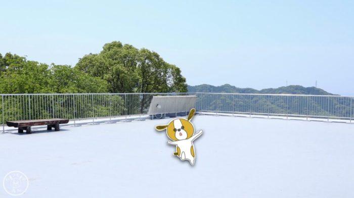五台山展望台の屋上