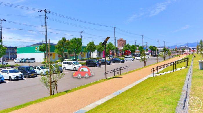 弥右衛門公園の駐車場