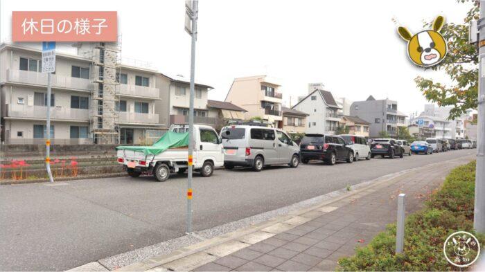 高知県立大学の北側(休日の様子)